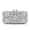 povoljno Praktični poklončići-Žene Crystal / Rhinestone Metal Večernja torbica Kristalne vrećice od kristalnog kamena Cvijetni print Zlato / Crn / Pink / Vjenčane torbe / Vjenčane torbe