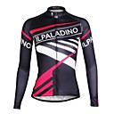 ราคาถูก วิกผมลูกไม้สังเคราะห์ระดับพรีเมียม-ILPALADINO สำหรับผู้หญิง แขนยาว Cycling Jersey Patterned จักรยาน เสื้อยืด Tops, ระบายอากาศ แห้งเร็ว Ultraviolet Resistant, ฤดูใบไม้ผลิ ฤดูร้อน ตก, 100% โพลีเอสเตอร์ Terylene / ขนาดพิเศษ / ขนาดพิเศษ