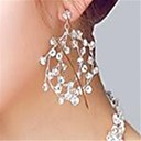 ราคาถูก ตุ้มหู-สำหรับผู้หญิง คริสตัล Drop Earrings ต่างหู เครื่องประดับ โปร่งแสง สำหรับ งานแต่งงาน ปาร์ตี้