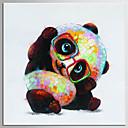 ราคาถูก ภาพวาดสัตว์-ภาพวาดสีน้ำมันแขวนทาสี มือวาด - งานศิลปะป๊อป คลาสสิก ที่ทันสมัย รวมถึงด้านในกรอบ / ผ้าใบยืด