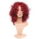 Χαμηλού Κόστους Συνθετικές περούκες χωρίς σκουφί-Συνθετικές Περούκες Σγουρά Kinky Curly Kinky Σγουρό Σγουρά Κούρεμα καρέ Περούκα Μεσαίο Μπορντώ Συνθετικά μαλλιά Γυναικεία Μοντέρνα Περούκα αφροαμερικανικό στυλ Για μαύρες γυναίκες Κόκκινο