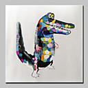 billiga Abstrakta målningar-Hang målad oljemålning HANDMÅLAD - Djur Popkonst Moderna Inkludera innerram