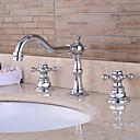 ราคาถูก ก๊อกอ่างล้างหน้าในห้องน้ำ-ก๊อกน้ำอ่างล้างจานห้องน้ำ - Pre Rinse / น้ำตก / กระจาย มีสี ตัวเจาะนำศูนย์ จับสองสามหลุมBath Taps