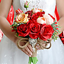 """billige Kunstige blomster & Vaser-Bryllupsblomster Buketter Bryllup / Fest / aften Taft / Spandex / Tørrede Blomster 11.8"""" (Ca. 30cm)"""