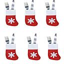 billige Dørpanel gardiner-6 stk jule sokker bestikk bakke sokker