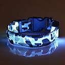 olcso Nyakörvek és pórázok-Cica Kutya Gallérok LED fények Állítható / Behúzható álcázás Műanyag Zöld Kék Rózsaszín