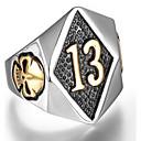 povoljno Muško prstenje-Muškarci Prsten Pečatni prsten Srebro Zlatan Titanium Steel Punk Vojska Dnevno Jewelry Lubanja