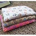 Χαμηλού Κόστους Κρεβάτια & Κουβέρτες σκυλιών-Γάτα Σκύλος Στρώμα Επιφάνειας Καθαρισμός Πετσέτα Κουβέρτες κρεβατιών Κοτλέ Κατοικίδια Κουβέρτες Αποτύπωμα / Paw Με δύο πλευρές Πτυσσόμενο Ροζ Τριανταφυλλί Μπεζ