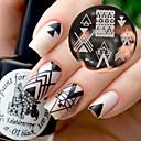 billiga Nail Practice & Display-1 pcs Stämpelplatta Mall nagel konst manikyr Pedikyr Mode Dagligen / stämpling Plate / Stål