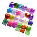 ราคาถูก เพชรประดับและของตกแต่ง-24pcs/set Stickers & Tapes / สติกเกอร์ฟอยล์ / สติกเกอร์เล็บ Glitter เสน่ห์ / ผลกระทบจากกระจกเงา / Nail Decals การออกแบบเล็บ