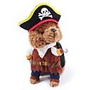 ราคาถูก เสื้อผ้าสำหรับสุนัข-แมว สุนัข ผู้ใช้บริการ ฤดูหนาว Dog Clothes สีน้ำตาล เครื่องแต่งกาย Terylene ฝ้าย การ์ตูน คอสเพลย์ วันฮาโลวีน S M L XL