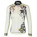 ราคาถูก วิกผมลูกไม้สังเคราะห์ระดับพรีเมียม-ILPALADINO สำหรับผู้หญิง แขนยาว Cycling Jersey สีม่วง สีแดงชมพู สีเขียวอ่อน ลวดลายดอกไม้ / เกี่ยวกับพฤษศาสตร์ ขนาดพิเศษ จักรยาน เสื้อยืด Tops ขี่จักรยานปีนเขา Road Cycling / ระบายอากาศ / แห้งเร็ว
