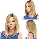 billiga Syntetiska peruker utan hätta-Syntetiska peruker Rak Rak Peruk Blond Blond Syntetiskt hår Dam Trump Hair Blond