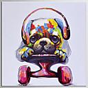 Χαμηλού Κόστους Πίνακες με Ζώα-Hang-ζωγραφισμένα ελαιογραφία Ζωγραφισμένα στο χέρι - Ποπ Άρτ Κλασσικό Μοντέρνα Περιλαμβάνει εσωτερικό πλαίσιο / Επενδυμένο καμβά