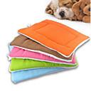 ราคาถูก ที่นอนและผ้าห่มสำหรับสุนัข-แมว สุนัข เบาะที่นอน ที่นอน ผ้าห่มเตียง เสื่อ & แผ่นปู Polar Fleece นุ่ม สีเขียว ฟ้า สีชมพู