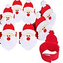ราคาถูก ของตกแต่งวันคริสต์มาส-4pcs ชุดผ้าเช็ดปากผ้าไม่ทอ of Santa Claus แหวนผ้าเช็ดปาก