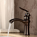 ราคาถูก ก๊อกอ่างล้างหน้าในห้องน้ำ-ก๊อกน้ำอ่างล้างจานห้องน้ำ - ตั้งพื้น ทองแดงขัดน้ำมัน ติดโต๊ะ จับเดี่ยวหนึ่งหลุมBath Taps