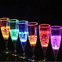 ราคาถูก วิกผมสังเคราะห์-แก้วแชมเปญแก้วเรืองแสง 6.8 * 18 ซม. สีแบบสุ่ม