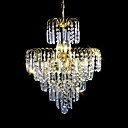 ราคาถูก โคมไฟระย้า-SL® 6-Light คริสตัล โคมไฟระย้า ดาวน์ไลท์ / Ambient Light ชุบโลหะด้วยไฟฟ้า คริสตัล, สไตล์เทียน 110-120โวลล์ / 220-240โวลต์ / E12 / E14