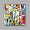 baratos Pinturas Abstratas-Pintura a Óleo Pintados à mão - Abstrato Clássico Modern Incluir moldura interna / Lona esticada