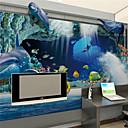 povoljno Zidne tapete-prilagođena pozadina velikih zidnih zidnih obloga duboki špiljski riba škola spavaća soba dnevni boravak kauč TV pozadina ukras 448 × 280cm