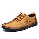 ราคาถูก รองเท้าOxfordสำหรับผู้ชาย-สำหรับผู้ชาย รองเท้าหนัง Microfibre ฤดูใบไม้ผลิ / ตก ความสะดวกสบาย รองเท้า Oxfords ป้องกันไฟฟ้าสถิตย์ สีดำ / สีเหลือง / สีกากี