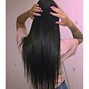 billige Hairextension med naturlig farge-Remy Menneskehår Helblonder uten lim Helblonde Parykk stil Indisk hår Rett Parykk 120% Hair Tetthet med baby hår Naturlig hårlinje 100 % håndknyttet Dame 24 tommer (ca. 60cm) 10 tommer (ca. 25cm) 12