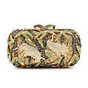 baratos Clutches & Bolsas de Noite-Mulheres Cristal / Strass Metal Bolsa de Festa Rhinestone Crystal Evening Bags Animal Dourado