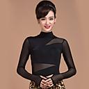 ราคาถูก ชุดเต้น Ballroom-ชุดเต้นรำโมเดิร์น เสื้อ สำหรับผู้หญิง การฝึกอบรม ไหมสังเคราะห์ / Tulle แขนยาว ธรรมชาติ Top
