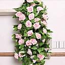 ราคาถูก ดอกไม้ประดิษฐ์-ดอกไม้ประดิษฐ์ 1 สาขา ทุ่งหญ้าชนบท สไตล์ กุหลาบ ดอกไม้ประดับผนัง