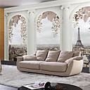Χαμηλού Κόστους Αυτοκόλλητα Τοίχου-Art Deco 3D Αρχική Διακόσμηση Σύγχρονο Κάλυψης τοίχων, Καμβάς Υλικό κόλλα που απαιτείται Τοιχογραφία, δωμάτιο Wallcovering