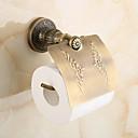 Χαμηλού Κόστους Βάσεις για Χαρτί Υγείας-Βάση για χαρτί τουαλέτας Πεπαλαιωμένο Ορείχαλκος 1 τμχ - Ξενοδοχείο μπάνιο