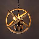 baratos Estilo Vela-Luz de pendente de corda de cânhamo de 3 luzes luz ambiente outros metais led, designers 110-120v / 220-240v lâmpada branca quente não incluída