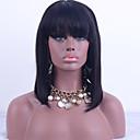 זול פיאות תחרה משיער אנושי-שיער אנושי חלק קדמי תחרה ללא דבק פאה תספורת בוב בסגנון שיער ברזיאלי ישר טבע שחור פאה 130% צפיפות שיער עם שיער בייבי שיער טבעי פאה אפרו-אמריקאית 100% קשירה ידנית בגדי ריקוד נשים קצר בינוני ארוך