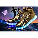 זול LED Shoes-בנים נוחות / נעליים זוהרות PU נעלי אתלטיקה ילדים קטנים (4-7) שחור / כסף / אדום חורף / TR