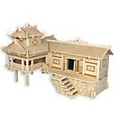ราคาถูก จิ๊กซอว์3D-ปริศนาไม้ สถาปัตยกรรมแบบจีน บ้าน ระดับมืออาชีพ ทำด้วยไม้ 1pcs สำหรับเด็ก เด็กผู้ชาย ของขวัญ