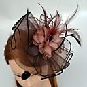 Χαμηλού Κόστους Καπέλα και Διακοσμητικά-Τούλι / Φτερό Kentucky Derby Hat / Γοητευτικά / Καλύμματα Κεφαλής με Φλοράλ 1pc Γάμου / Ειδική Περίσταση Headpiece