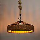 ราคาถูก โคมไฟเพดาน-ฟลัชเมาโคมเชือกป่านทาสีเสร็จสิ้นออกแบบโลหะ 110-120 โวลต์ / 220-240 โวลต์วอร์มสีขาวหลอดไฟรวม / e26 / e27