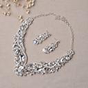 povoljno Komplet nakita-Žene Komplet nakita Svadbeni nakit Setovi Zabava Naušnice Jewelry Pink Za Vjenčanje Party