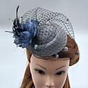 ราคาถูก วิกผมจริง-ตูเล่ / ขนนก / สุทธิ fascinators / หมวก / วิถี Birdcage กับ 1 งานแต่งงาน / โอกาสพิเศษ หูฟัง