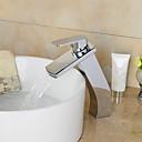 ราคาถูก ก๊อกอ่างล้างหน้าในห้องน้ำ-ก๊อกน้ำอ่างล้างจานห้องน้ำ - น้ำตก มีสี กระจาย One Hole / จับเดี่ยวหนึ่งหลุม