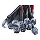 Χαμηλού Κόστους Σποτάκια LED-8 χιλιοστά 0.5W Super Bright LED φως σωλήνα με μια γραμμή φωτός μαλλιά DC12V κόκκινο / λευκό / μπλε / κίτρινο / πράσινο (10 τμχ)