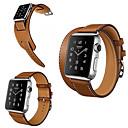 ราคาถูก วง Smartwatch-สายนาฬิกา สำหรับ Apple Watch Series 5/4/3/2/1 Apple หัวกลัดแบบคลาสสิก หนังแท้ สายห้อยข้อมือ