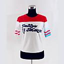 billiga Anime/Cosplay-peruker-Självmordsgrupp Superhjältar Harley Quinn Cosplay Kostymer / Dräkter Dam Film-cosplay Vit T-shirt Jul Halloween Nyår Cotton
