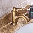 ราคาถูก จิ๊กซอว์3D-ก๊อกน้ำอ่างล้างจานห้องน้ำ - Pre Rinse / น้ำตก / กระจาย ทองแดงโบราณ กระจาย จับเดี่ยวหนึ่งหลุมBath Taps