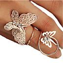 povoljno Prstenje-Žene Srebro Zlatan Umjetno drago kamenje Legura Neobično Jedinstven dizajn Moda Party Dnevno Jewelry Rukav leptir