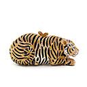 baratos Clutches & Bolsas de Noite-Mulheres Cristal / Strass Metal Bolsa de Festa Rhinestone Crystal Evening Bags Animal Preto / Branco / Dourado / Café