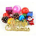 ราคาถูก ของเล่นวันคริสต์มาส-ตกแต่งวันคริสมาสต์ อุปกรณ์งานคริสต์มาส ต้นคริสต์มาส ขนาดใหญ่ พลาสติก ผู้ใหญ่ เด็กผู้ชาย เด็กผู้หญิง Toy ของขวัญ 30 pcs