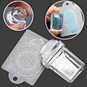 billiga Nagelstämpling-1SET Stamper & Scraper Mall nagel konst manikyr Pedikyr Mode Dagligen / Silikon / Plast