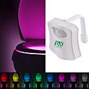 billiga LED-duschhuvuden-ywxlight® 8 färgtoalett skållampa ledd toalett lampa mänsklig rörelse sensor ljus badrum toalett natt ljus pir automatiskt aktiverat